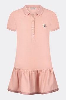 فستان قطن وردي بناتي