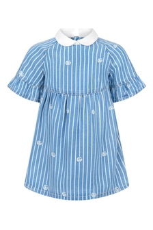 GUCCI Kids Baby Girls Blue Dress