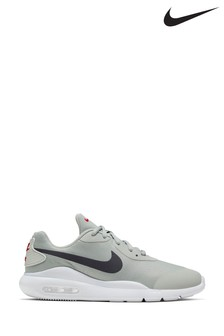 Nike Grey/Red Air Max Oketo Youth Trainers