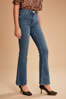 Dark Blue High Rise Authentic Flared Jeans