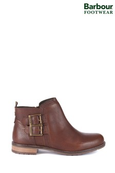 Barbour® Brown Sarah Low Buckle Boots