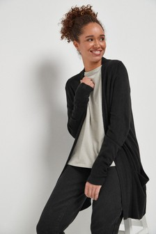 Black Cosy Pocket Cardigan