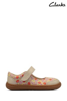 Clarks Ivory Combi Flash Bright Shoes