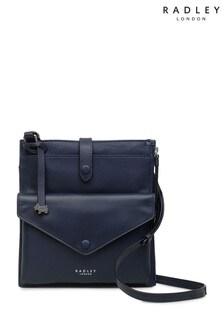 Radley Blue Wilton Way Medium Slim Tab Cross Body Bag