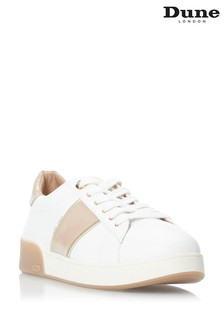 Dune London White Eden Lace-Up Trainers