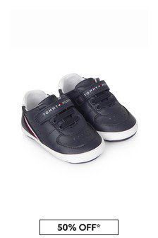 Baby Boys Navy Trainers