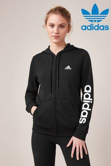 adidas Linear Zip Through Hoodie