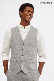 White Stuff Grey Northcote Linen Waistcoat