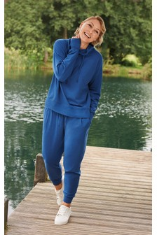 Blue Emma Willis Cowl Neck Hoody