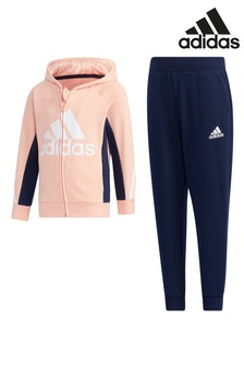 adidas Little Kids Pink Tracksuit