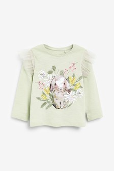 Green Bunny Long Sleeve T-Shirt (3mths-7yrs)