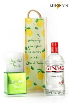 Life Lemons Gin And Candle Gift Set by Le Bon Vin