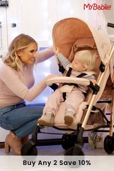 Billie Faiers Rose Gold and Blush Stroller by My Babiie