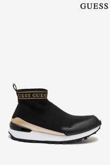 Guess Black Salzia Knit Sock Trainers