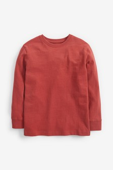 Rust Long Sleeve Cosy T-Shirt (3-16yrs)