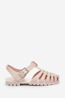 Rose Pink Jelly Sandals