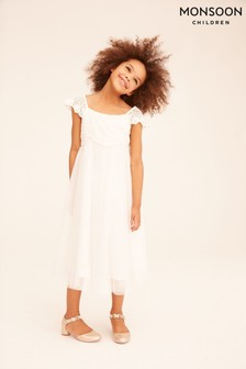 Monsoon Ivory Estella Dress