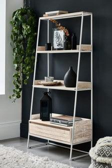 White Jefferson Storage Ladder Shelf