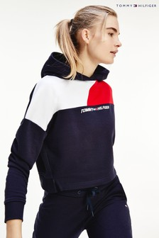 Tommy Hilfiger Blue Relaxed Colourblock Hoody