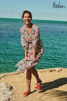 Boden Blue Daria Cotton Midi Dress