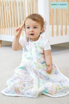aden + anais Essentials Cotton Muslin 1.0 TOG Light Sleeping Bag Tropicalia (0-6 months)