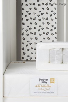 Mother&Baby White Gold Anti Allergy Pocket Sprung CotBed Mattress