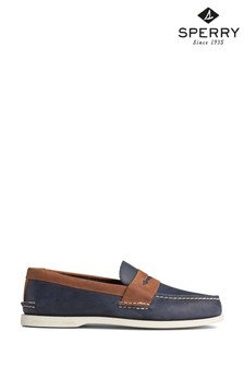 Sperry Blue Authentic Original Penny Loafers