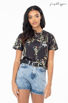 Hype. Ditsy Floral Women's Crop T-Shirt