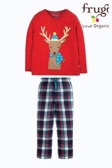 Frugi GOTS Red Stag And Check Organic Pyjamas