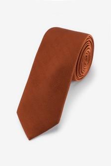 Rust Slim Twill Tie