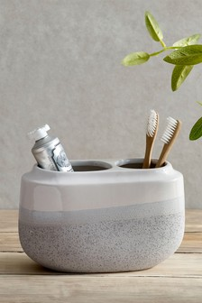 Ombre Ceramic Toothbrush Tidy