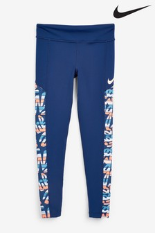 Nike Navy Marker Mash Trophy Leggings