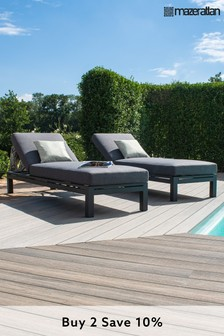 Oslo Double Sunlounger Set By Maze Rattan