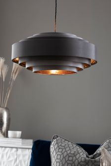 Rico Grey And Copper Tiered Easy Fit Shade