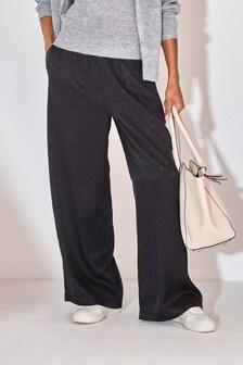 Black Wide Leg Trousers