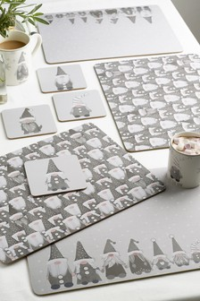Set of 4 Gonk Corkback Placemats And Coasters