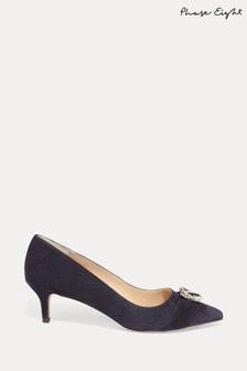 Phase Eight Blue Joelle Sparkle Court Shoes