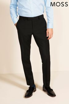 Moss 1851 Black Tailored Fit Stretch Trousers