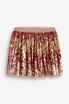 Pink Party Sequin Skirt (3-16yrs)