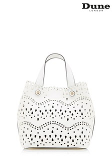 Dune London Daser White Synthetic Laser Cute Tote Bag