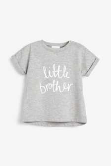 Grey Little Brother T-Shirt (0mths-2yrs)