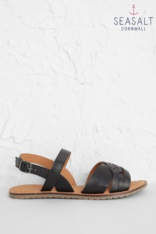 Seasalt Black Chapel Down Sandals