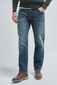 Dirty Denim Loose Fit Jeans With Stretch