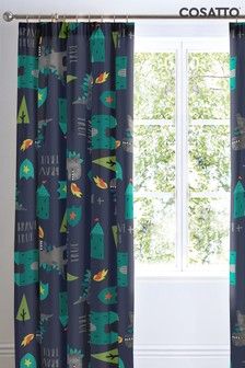 Cosatto Dragon Kingdom Pencil Pleat Curtains