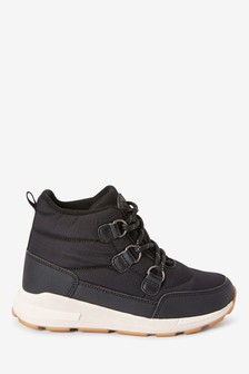 Black Water Resistant Quilted Boots (Older)