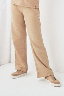 Neutral Cosy Wide Leg Joggers