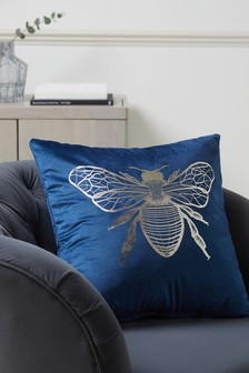 Metallic Bee Cushion