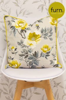 Peony Piped Edge Cushion by Furn