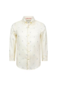 Boys White Cotton Oxford Shirt