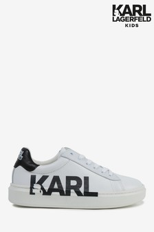 Karl Lagerfeld White Side Logo Trainers